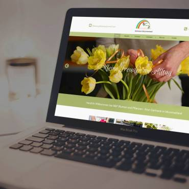 Frische Blumen, frische Website